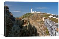 """STANDING TALL"" (South Stack Lighthouse), Canvas Print"