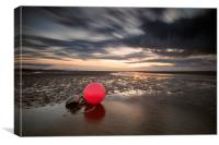 """THINGS NAUTICAL""(Buoy) Meols Estuary, Canvas Print"