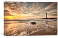 New Brighton Sunset (Driftwood), Canvas Print