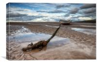 """ROPE&ANCHOR"" Meols North West England, Canvas Print"