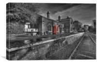 """HADLOW ROAD"" (Restored train station), Canvas Print"