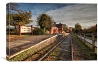 """HADLOW ROAD"" (Disused train station) Willaston, Canvas Print"