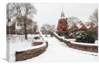 """Port Sunlight the Dell"" (1st Snowfall), Canvas Print"