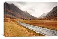Long and Winding Road (Scotland), Canvas Print