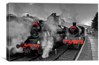 """""""Llangollen Railway(Santa Special), Canvas Print"""