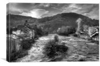 """View from the Bridge"" Llangollen, Canvas Print"