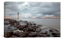 """New Brighton Fort Perch Rock Sunset"", Canvas Print"