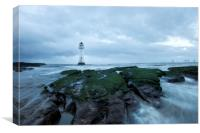 """Perch Rock (Exposed) New Brighton, Canvas Print"