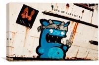"""Graffiti by Kiwie"" Duke of Lancaster, Canvas Print"