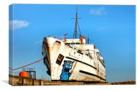 """Set in Stone the Duke of Lancaster"", Canvas Print"