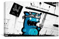 """""""Graffiti by Kiwie"""" Mono Version, Canvas Print"""