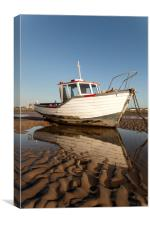 """ Reflections"" (Meols Beach), Canvas Print"