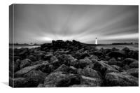 """Rays of Light (Perch Rock Lighthouse), Canvas Print"