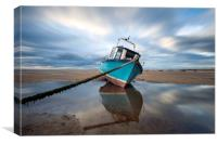 """ Reflections Meols Beach"", Canvas Print"