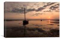 """Meols Sunrise"", Canvas Print"