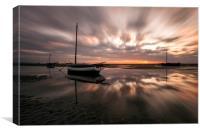"""Light Explosion on Meols Estuary"", Canvas Print"