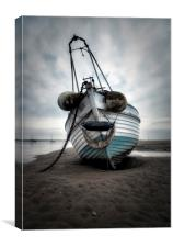 """Boat named Sue"" (Meols Beach), Canvas Print"