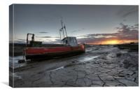 Lower Heswall at Sunset, Canvas Print