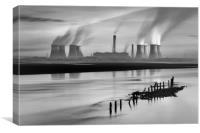 Fiddlers Ferry Power Station, Canvas Print