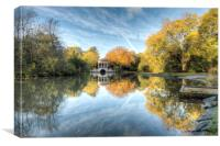 """ Autumn Reflections"", Canvas Print"
