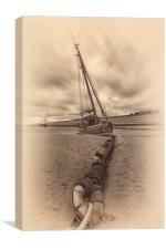 """Rope&Anchor (Meols Beach), Canvas Print"