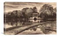 Birkenhead Park Boathouse, Canvas Print