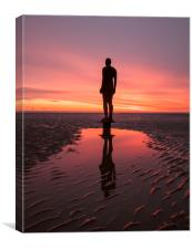 Another Gormley Sunset, Canvas Print