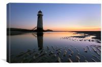 Point of Ayr Lighthouse, Canvas Print