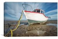 """Catching the Light"" Maggie R on Meols Beach"", Canvas Print"