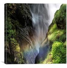"""Aira Force Waterfall Cumbria"", Canvas Print"
