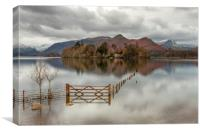 The Gate Derwentwater, Canvas Print