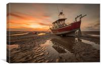 Meols Sunset, Canvas Print