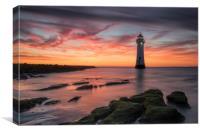 Perch Rock Sunset, Canvas Print