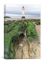 Perch Rock Lighthouse., Canvas Print
