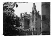 Southwell Minster Old Ruins, Canvas Print