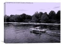 Sspeedboating on the RiverTrent, Canvas Print