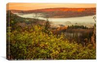 Valley of Mist, Canvas Print