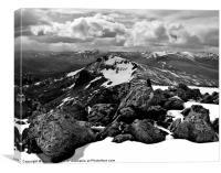 Sgurr na Lapaich view, Canvas Print