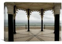 The Sea Through Brighton Bandstand, Canvas Print