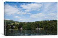 Lake Windermere in summer, Canvas Print