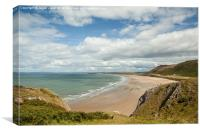 Rhossili Bay beach, Canvas Print