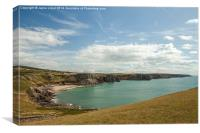 Fall Bay, Gower Peninsula, Wales, Canvas Print