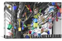Buckets and Spades, Canvas Print