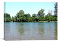 2183-river drina, Canvas Print