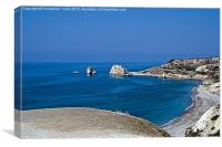 Aphrodite's birth place, Canvas Print