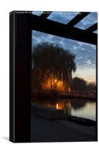 Sunset over sandford lock, Canvas Print