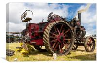 Classic Traction engine, Canvas Print