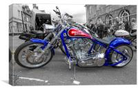 Harley Custom, Canvas Print