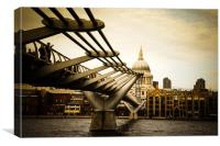 Millennium Bridge, London, England., Canvas Print