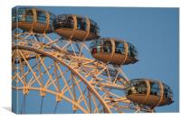London Eye on the Southbank., Canvas Print